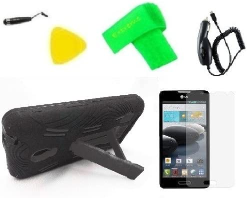 Heavy Duty Hybrid Phone Cover Case Cell Phone Accessory Car Charger Extreme Band Stylus Pen product image