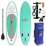 SereneLife Inflatable Stand Up Paddle Board (6 Inches Thick) Universal SUP Wide Stance