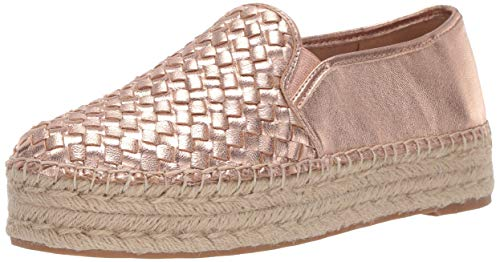 Sam Edelman Women's Catherine Platform Blush Gold Metallic Leather 11 M US