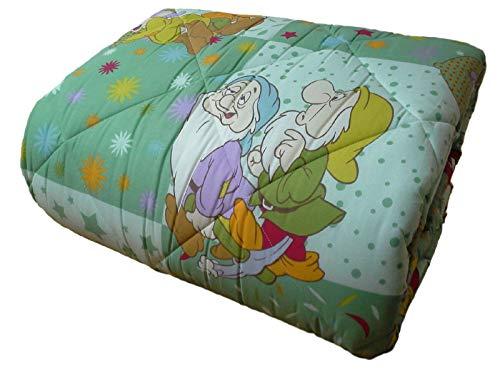 Caleffi Trapunta, piumone Invernale Disney Sette Nani Singolo, 1 Piazza - col. 6 Giada