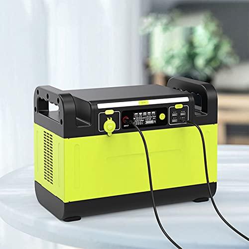 GFDDZ Centrale elettrica Portatile 1500W 1344Wh Batteria di Backup al Litio Generatore Solare Esterno con torce Prese CA a Onda sinusoidale Pura