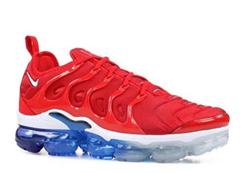 Nike Air Vapormax Plus Herren-Sneakers, Rot (Univrsty Red/White-blk), 42 EU