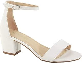 Best white sandals 1 inch heel Reviews