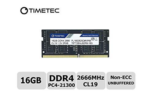 Timetec Hynix IC DDR4 2666MHz PC4-21300 1.2V CL19 2Rx8 260 Pin SODIMM Laptop Arbeitsspeicher Speicher (16GB)