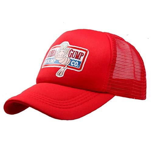 Camarones Unisex del Verano del Sombrero del Snapback Forrest Gump Sombrero De Béisbol del Camionero del Traje De Cosplay Casquillo Gorras