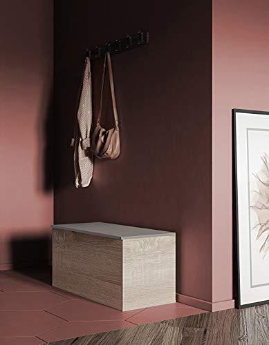 Coffre Banc Contemporain à Chaussures Chêne Naturel/Blanc 89 x 39,2 x 43,2 cm, 4007A3491A00