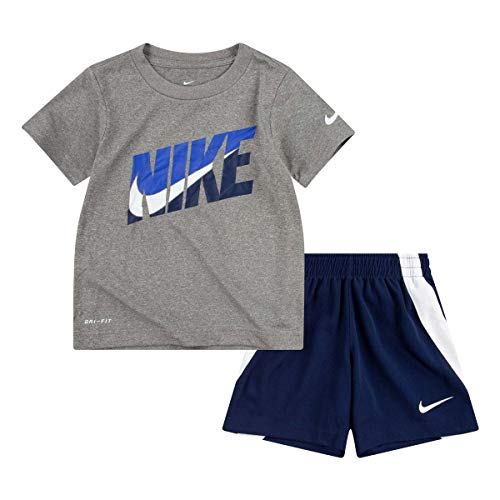Nike Toddler Boys' T-Shirt and Shorts Set Midnight Navy 3T