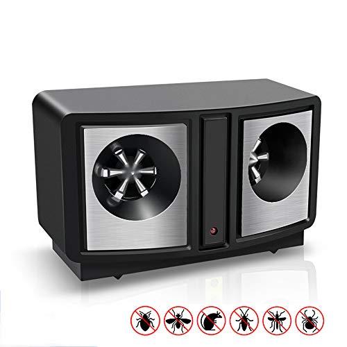 OLDF Control de plagas de Interior Repel, Control electrónico de Ahorro de energía Repelente de plagas de ultrasonidos y repelentes de plagas Mosquitos, Insectos, termitas, Ratones, murciélagos