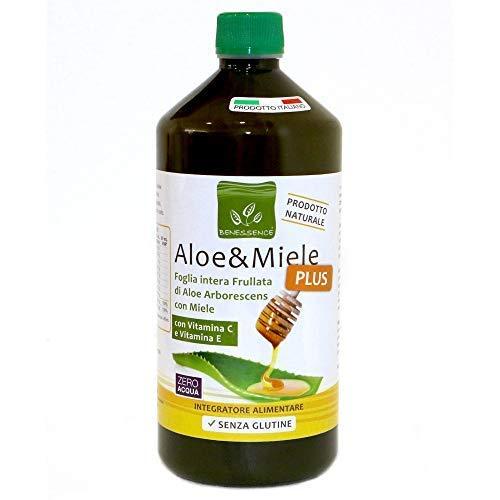 Benessence - Aloe y Miel - Jugo de Aloe Arborescens - Botella de 1150 g (1000 ml)