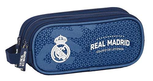 safta 812124635 Estuche portatodo triple 3 cremalleras escolar Real Madrid CF