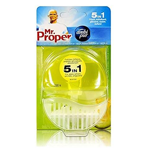 Ambi Pur 6 x WC - Lufterfrischer (Halter + Refill 55ml) - Citroen Limoen