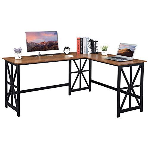 GreenForest L Shaped Desk, 63.8