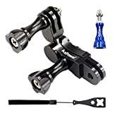 AxPower 360 Degree Swivel Arm for GoPro 3 4 5 6 7 8 Aluminum Alloy Rotary Ball Adapter Pivot Mount Extension Accessories for Campark ACT76 AKASO EK7000 Apeman Sport Camera