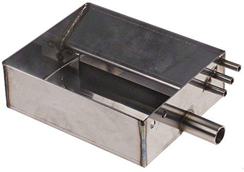 Sanremo afvoerbak voor espressomachine lengte 135 mm breedte 110 mm hoogte 45 mm gat ø 16 mm aansluiting achter schroefdraadlengte 14 mm