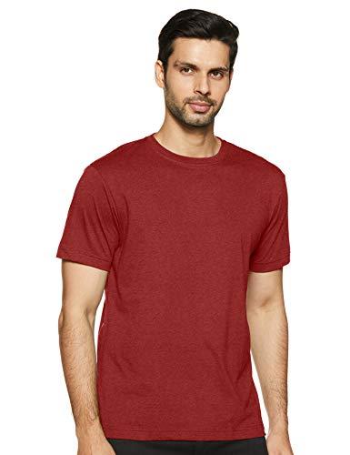 Jockey Men's Plain Regular fit T-Shirt (2714_Red Mel L)
