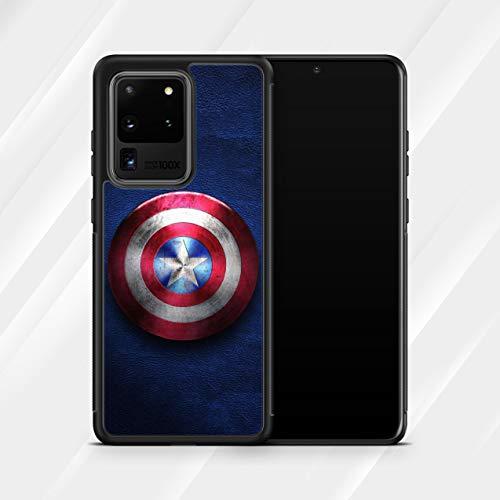Inspired by Captain America Avengers Case for Samsung Galaxy S21 Ultra S21+ S20 Ultra S20 FE S8 S9 Plus S10 S10e S10 Plus Case Superhero Shield M191