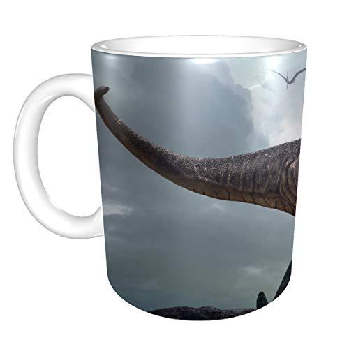 Tasse à café en céramique amusante rendu 3d dinosaures royaux Tyrannosaurus Rex tasses en céramique tasses à café réutilisables 11 onces pour hommes femmes cadeaux idéaux pour le lait de petit-déjeun