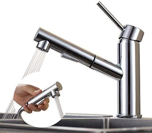 Homelody Küchenarmatur ausziehbar Armatur Küche Messing Spültischarmatur Mischbatterie Spüle Wasserhahn für Küchenspülen