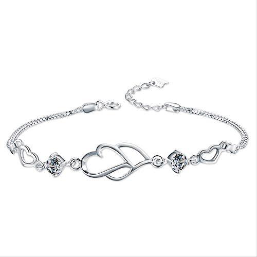 Fashion Temperament Hand ornament meisje mozaïek zirkoon creatieve persoonlijkheid hart-bedrukking liefde armband