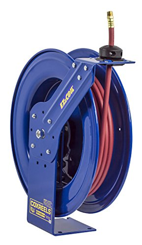 Coxreels EZ-SH-375 Heavy-Duty Safety Air/Water Hose Reel with Hose, 3/8 Hose ID, 75' Length