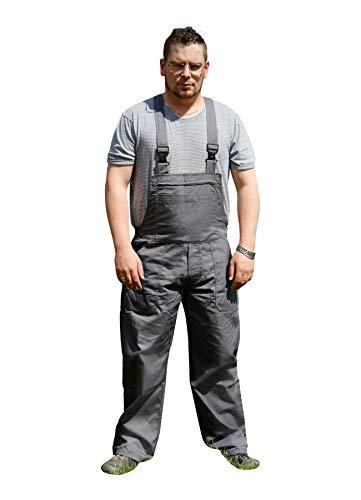 Mediablue Arbeitshose Latzhose Arbeitskleidung Latzhose Handwerkerhose Graphit (M)