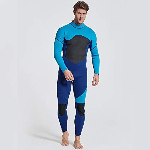 JenLn Traje de Snorkel Protector Solar Caliente Siameses de la Manga Larga de los Hombres de Secado rápido Traje Apto for el Buceo Traje de baño de Hombres (Color : Blue, Size : XL)