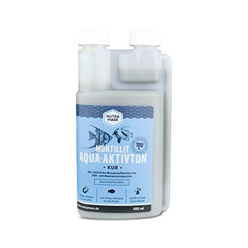 Nutramare Montillit Aqua-Aktivton 500ml | 100% natürliche Aquarium-Wasserpflege gegen Trübungen für klares Wasser