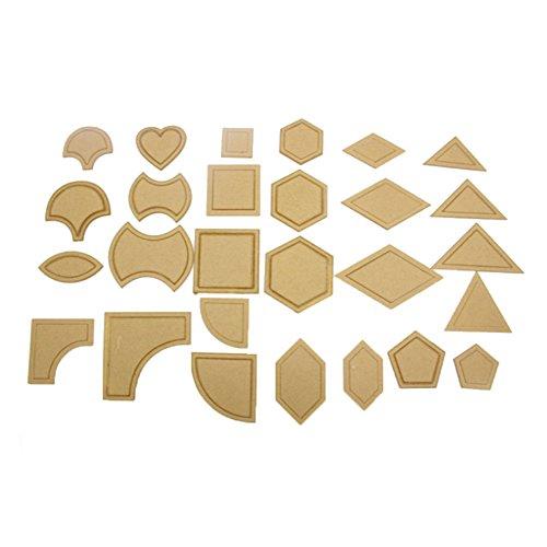 Andifany 54Pcs Acryl Quilten Vorlagen Naehen Schablonen Patchwork Lineal Sewing Tool Set