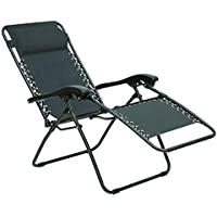 Living Accents Black Steel Frame Zero Gravity Relaxer Chair
