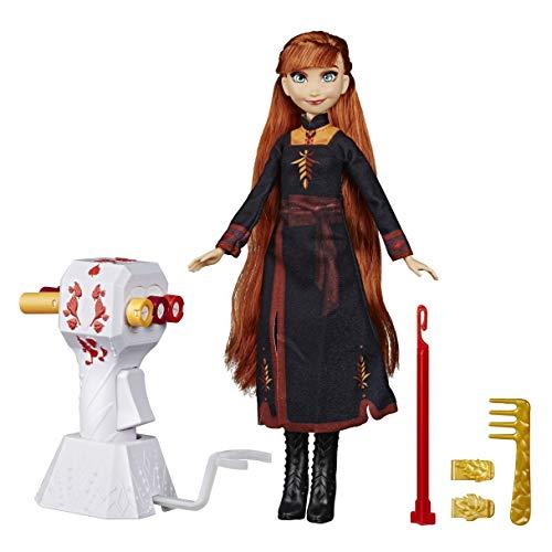 Disney Die Eiskönigin Flechtspaß Anna Puppe mit extralangem, rotem Haar, Styler und Haarclips – Spielzeug für Kinder ab 5 Jahren