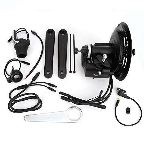 Kit de bicicleta eléctrica, 48V 500W Kit de motor de manivela de medio motor DIY eBike Sensored Torque Kit de conversión de motor central de bicicleta eléctrica Conector de instrumento de pantalla LCD