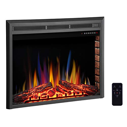 "R.W.FLAME 39"" Electric Fireplace Insert,Freestanding & Recessed Electric Stove Heater,Touch Screen,Remote Control,750W-1500W with Timer & Colorful Flame Option"
