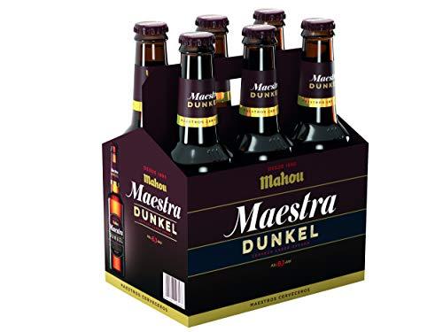Mahou Maestra Dunkel Cerveza Lager Oscura, 6 x 33cl