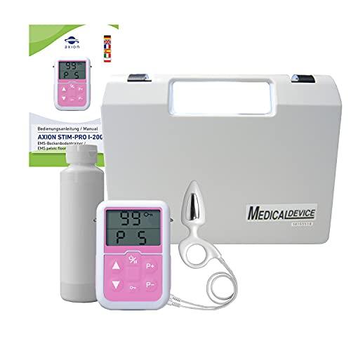 Electroestimulador muscular del suelo pélvico axion para hombres   Set ejercitador   Incluye sonda rectal (anal) y gel de contacto   Para incontinencia y problemas de próstata