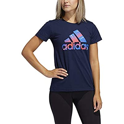 adidas Womens Must Haves Winners Tee (Collegiate Navy, Medium)