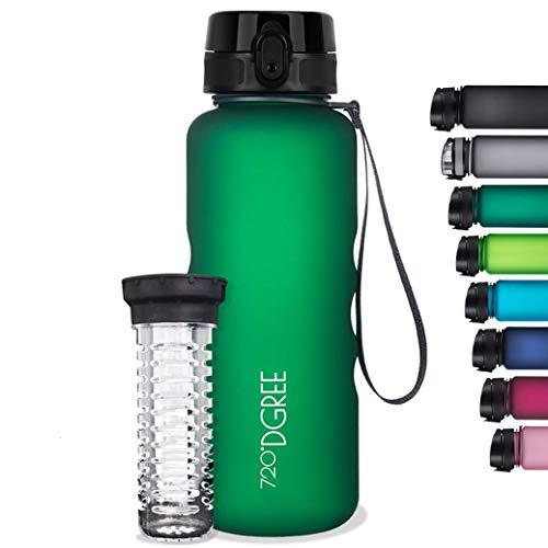 720°DGREE Water Bottle 'uberBottle' +Fruit Infuser - 1.5L - BPA-Free, Leakproof, Reusable - Large Tritan Bottle for Sports, Fitness, Outdoor, Hiking, Travel - Lightweight, Sustainable