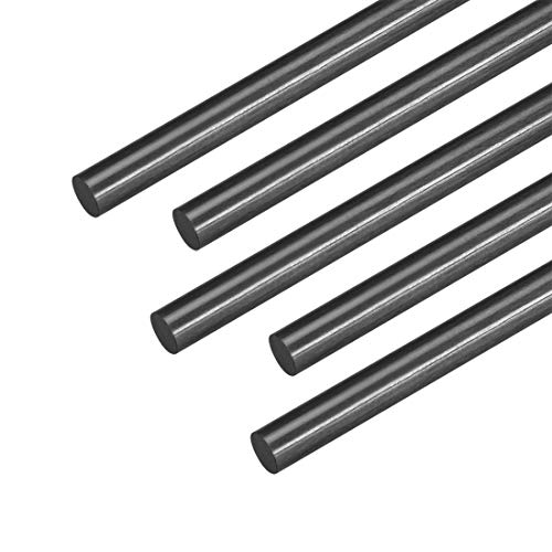 uxcell 5mm Carbon Fiber Rod for RC Airplane Matte Pole US, 400mm 15.7 inch, 5pcs