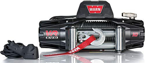 WARN 103252 VR EVO 10 Electric 12V DC Winch with Steel Cable Wire Rope: 3/8' Diameter x 90' Length, 5 Ton (10,000 lb) Pulling Capacity