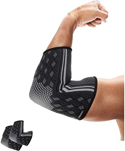 Exrebon Elbow Compression Sleeve 1 Pair for Men Women Breathable Tennis Golfers Elbow Brace product image