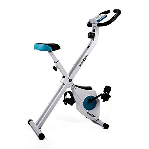 Klarfit Azura Confort Cyclette Pieghevole Ripiegabile Con Schenale (100 KG MAX, 8 livelli...