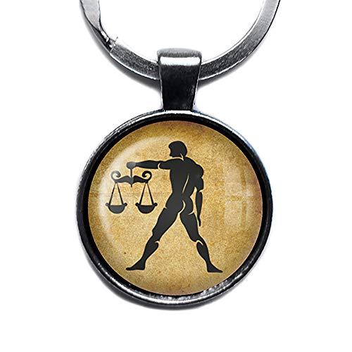 Zodiac Symbol Astrology Libra Tierkreis Astrologie Waage Silver Keychain Silber Schlüsselanhänger