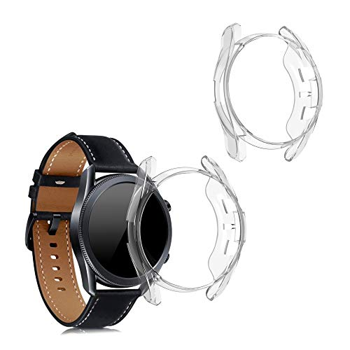 kwmobile 2 Pack de Fundas Compatible con Fitness Tracker Samsung Galaxy Watch 3 (41mm) - Case en Transparente