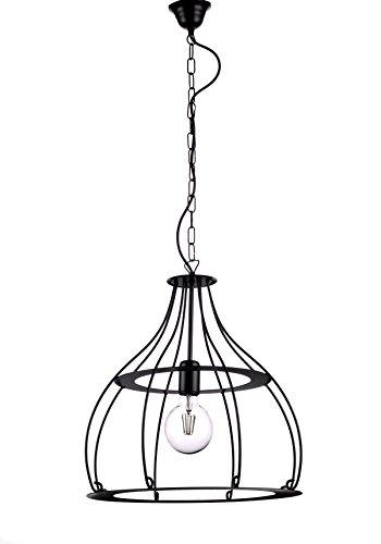 ONLI click your light 4913/SN Lampe à suspension style industriel métal noir