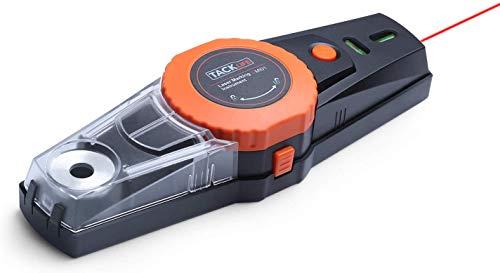 Laserwaage Tacklife 2020 Advanced Laser Wasserwaage mit Vakuumpumpe, Bohrmaschine Lochpositionierung und Abnehmbar Staubsammelbox, Linielaser - MI01