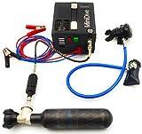 Equipo de buceo pequeña botella de 0,48 L portátil de carbono con bomba eléctrica de 12 V para barco y coche de alta presión, set cilíndrico de aire comprimido y oxígeno I carbono