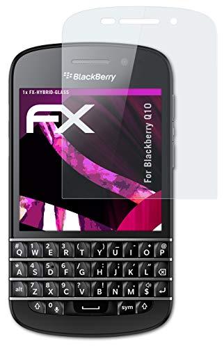atFolix Glasfolie kompatibel mit BlackBerry Q10 Panzerfolie, 9H Hybrid-Glass FX Schutzpanzer Folie