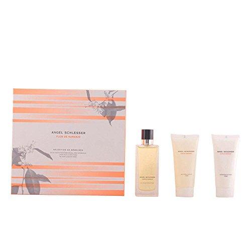 Angel Schlesser Flor Naranjo femme set bevat eau de cologne/body lotion en douchegel, 300 ml