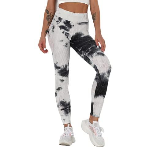 QTJY Pantalones de Yoga Deportivos con Levantamiento de Cadera de Cintura Alta para Mujer, Leggings de Yoga Push-up de Color, Leggings para Correr de Secado rápido y Estiramiento C XL