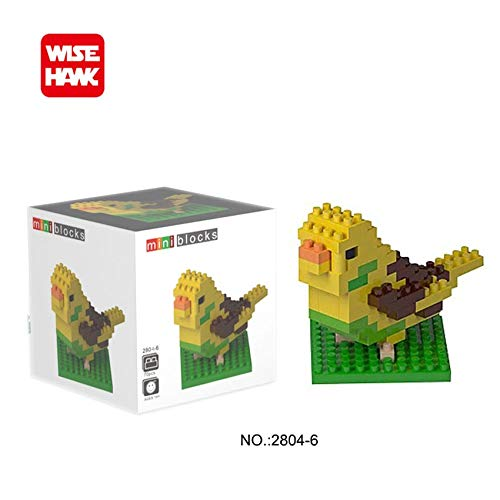 Zenghh Sammeln & Seltenes Building Blocks Diamant Micro Bricks Tiere Parrot Krokodil Giraffe Doge Shiba Inu Schildkröte Bulldog Tier Action-Figuren Minions 3D DIY Modell Geschenk Lernspielzeug