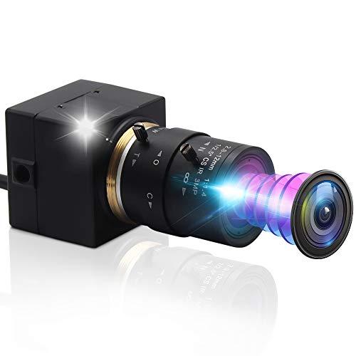 ALPCAM 8MP HD Webcam Optics Zoom with 2.8-12mm Varifocal Lens Web Cam Full HD 2448P Wide Angle Conference USB Camera with Sony IMX179 Sensor,UVC USB Webcam for Mac/Windows/Linux/Raspberry Pi